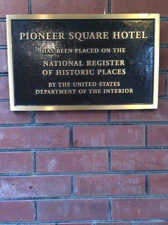 Best Western Plus Pioneer Square Hotel: Historic Building plaque