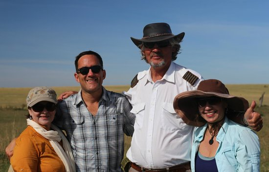 Hot Air Safaris: With our great pilot: Captain Andrew R. Peart