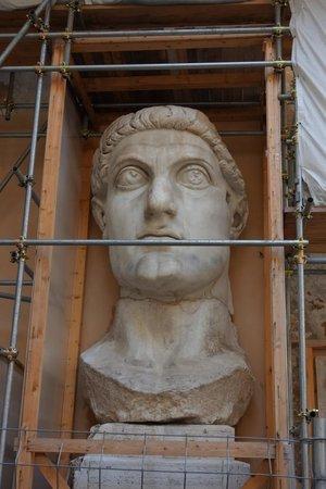 Musei Capitolini: colossal head of Constantine statue