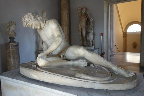 "Musei Capitolini: sculpture of the ""Dying Gaul"""