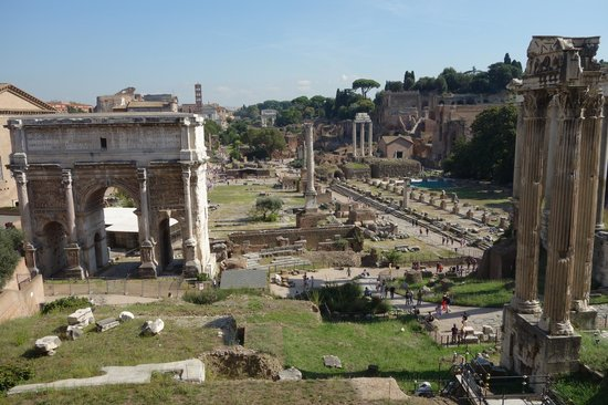 Musei Capitolini: view of the Forum from the Capitoline Museum