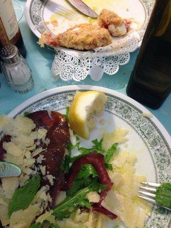 Ristorante al Grottino: Esta entrada de MOzzarella de Buffala com presunto cru á milanesa é de comer ajoelhada!!!!!!