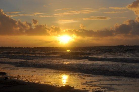 Por do sol no hostel Aquarius on the Beach