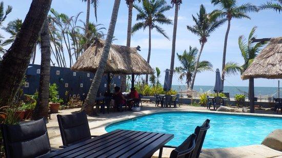 Piscina do hostel Aquarius on the Beach