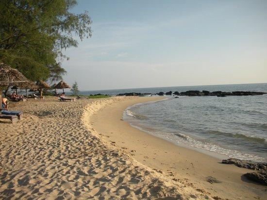 Mango Bay Resort: la plage aménagée avec bains de soleil