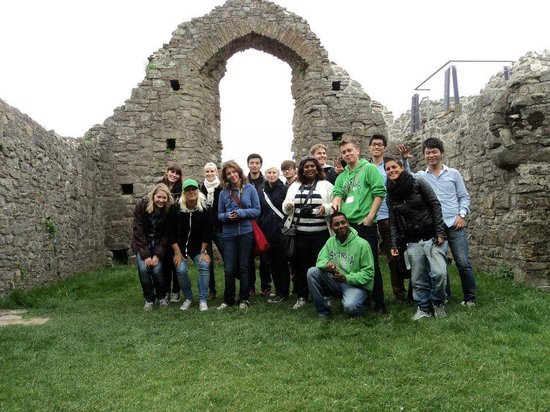 Oystermouth Castle: International society