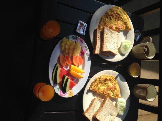 Sibaja Palms Sunset Beach Resort: prima verzorgd ontbijt