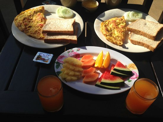 Sibaja Palms Sunset Beach Resort : prima verzorgd ontbijt