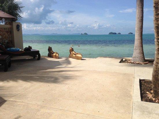 Sibaja Palms Sunset Beach Resort: uitzicht vanaf het zonnen terras