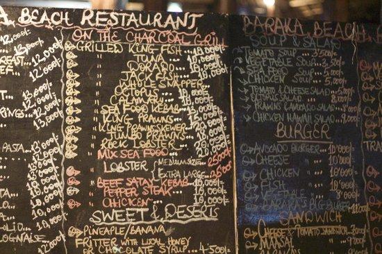 Baraka Beach Resturant: Choice for everybody