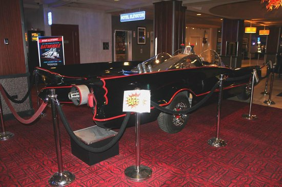 Reserve Casino Hotel: Batmobile displayed in the lobby.
