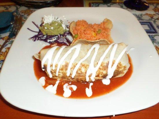 Hacienda Sisal : House burrito, very yummy!