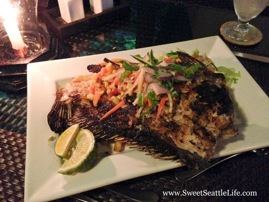 Lomani Island Resort: The best part of our stay! You catch it, they cook it! The best dinner of the entire trip.
