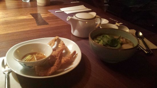 Busaba Eathai : Starters of Prawns & then a spicy soup