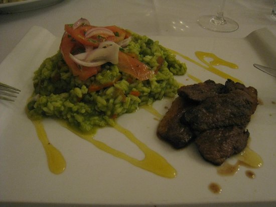 Paladar 1900: Magret de canard with green risotto
