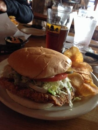 Buckhead Mountain Grill: Pork Tenderloin Sandwich and local beer