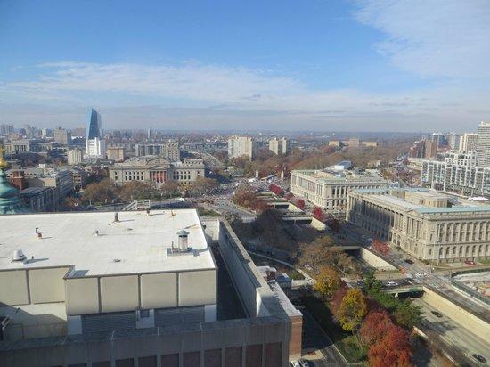 Sheraton Philadelphia Downtown Hotel : vue du 20' etage
