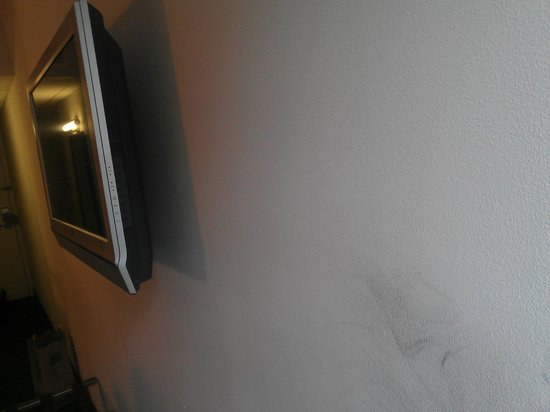 Hotel Felix: Scuffed walls  - Room 419