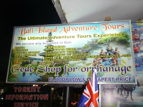 Bali Island Adventure Tours - Private Day Tours: gedes tourist sign