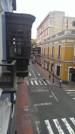 House of Osambela: look down the street from balcony