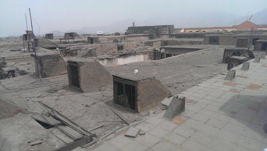 House of Osambela: The original roof area (prior to restore)