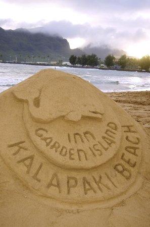 Garden Island Inn: sand sculpture