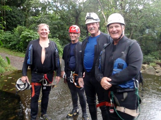 Extreme Dominica Canyoning: Larry, Richard (guide), Gord, Ted