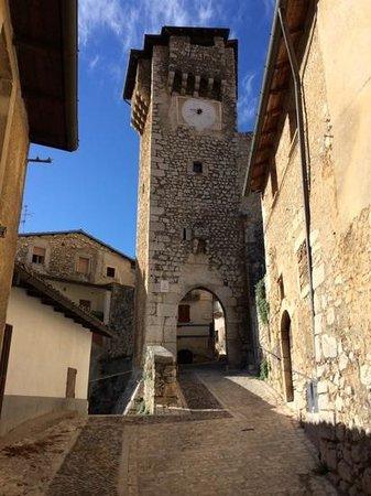 La Locanda del Parco: The entrance to the village.