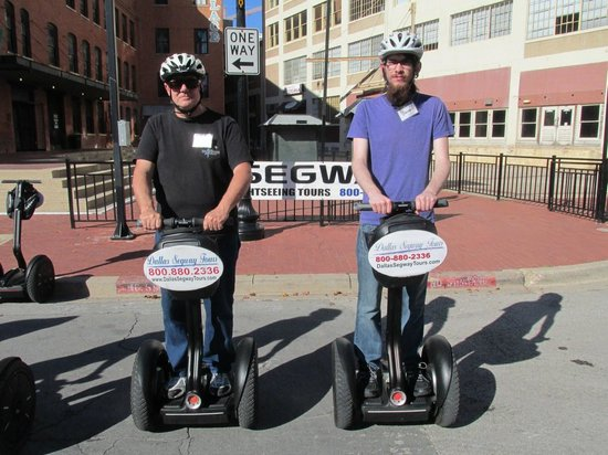 Dallas Segway Tours : My grandson and I at the start of the ride