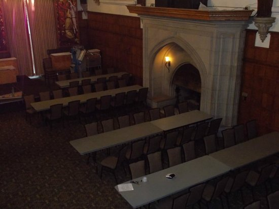 Glen Eyrie Castle & Conference Center: Big Hall Fireplace from above