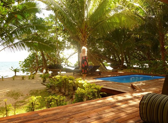 Qamea Resort And Spa Fiji Royal Beach House Deck Pool