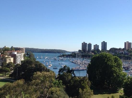 Vibe Hotel Rushcutters Bay Sydney: view on Rushcutter's Bay from roof top