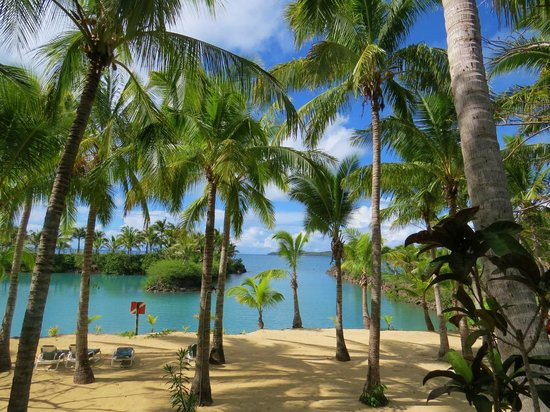 Wananavu Beach Resort: Beautiful beach at dive operations locations