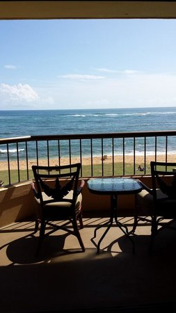 Courtyard Kaua'i at Coconut Beach: ずっと部屋に居たくなるほど気持ちイイ眺め