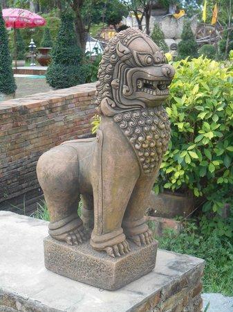 Wat Thammikarat : Beau lion