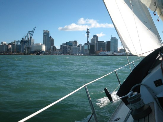 Nautical Nook Bed and Breakfast: sailing in Auckland Harbour