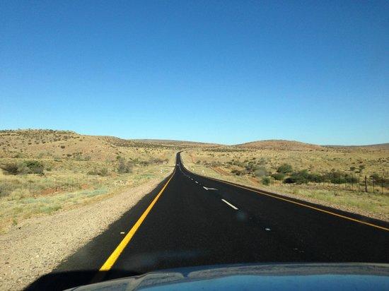 Vacker väg till Witsand nature reserve