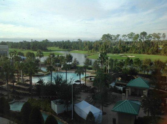 Hilton Orlando Bonnet Creek : utsikt over bassengområdet