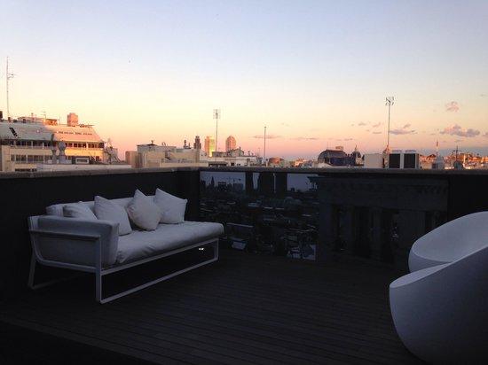 Room Mate Pau: Terrasse privée