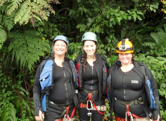 Extreme Dominica Canyoning: Linda and her daughters Staci & Krista