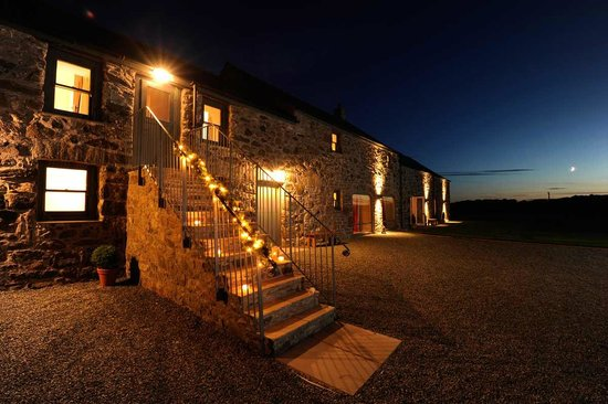 The Outbuildings at night