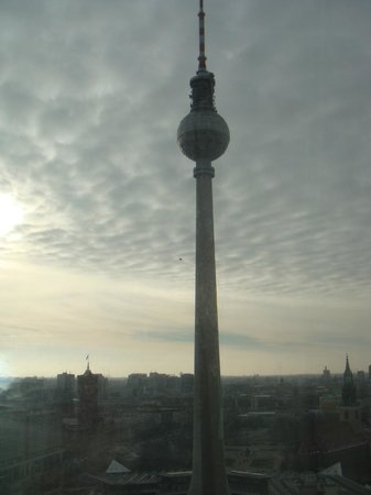 Park Inn by Radisson Berlin Alexanderplatz: tv tower Berlin the view from my room