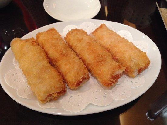 Manchinro Tenshimpo: 海老の紙包み揚げ