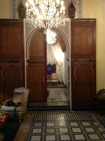 Sofitel Fes Palais Jamai: doorway to our second bedroom