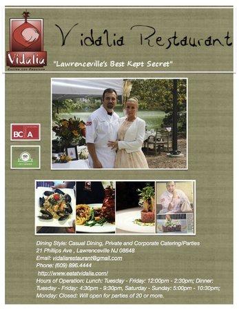 Vidalia Restaurant: Flyer
