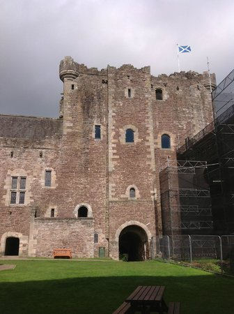 Doune Castle: in the courtyard