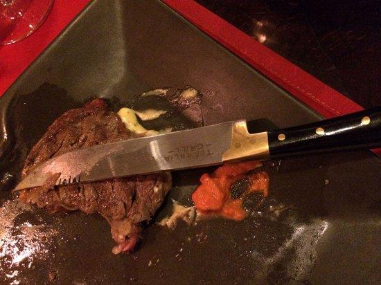 Terralia Grill : Lovely steak and love the knife.