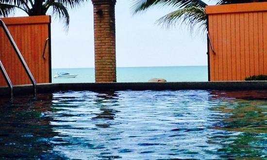 Mukdara Beach Villa and Spa Resort: Der morgendliche Blick von unseren Pool!