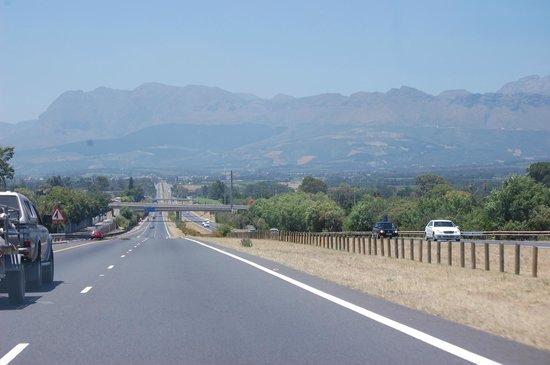 Estrada para o Spier Hotel