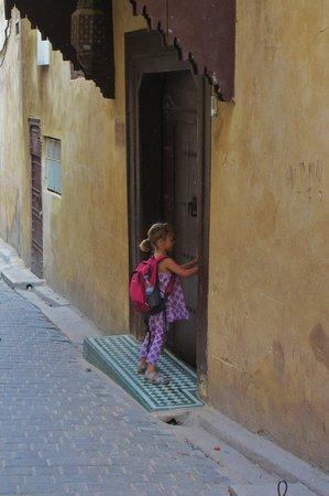 Hotel & Spa Riad Dar Bensouda : At the door to the Dar Bensouda